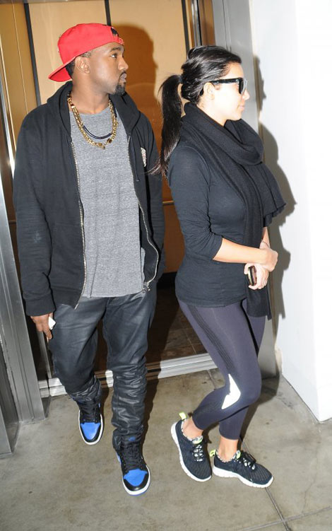 Kim Kardashian pregnant out with Kanye West