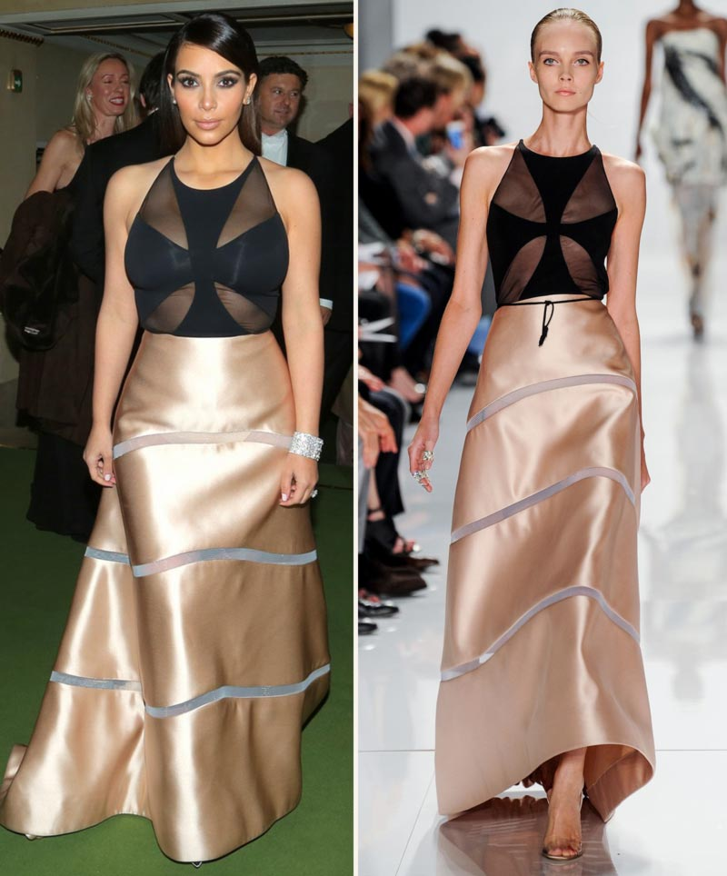 Kim Kardashian Ralph Rucci dress Vienna Ball