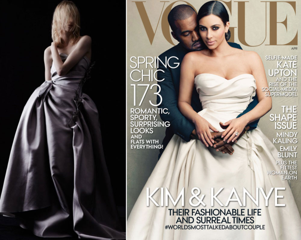 Kim Kardashian Dresses Vogue Us April 2014 Most Controversial Issue Stylefrizz