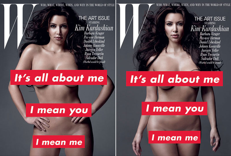 Kim Kardashian Takes Her Clothes Off For W November 2010