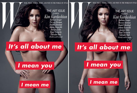 Kim Kardashian W November 2010 covers