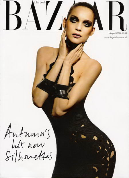 Kim Noorda UK Harper s Bazaar August 2008 Cover