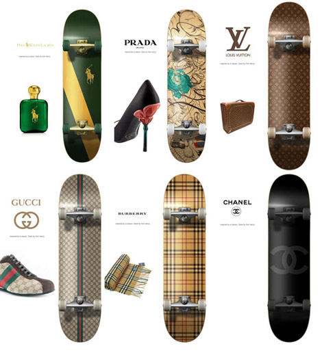 Kirk Henry Luxury Haute Couture Skateboards