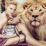 Kirsten Dunst Bvlgari Mon Jasmin Noir perfume lion ad campaign