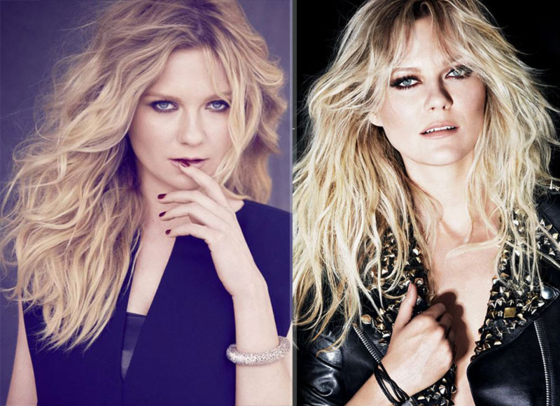 Kirsten Dunst L Oreal ads big hair