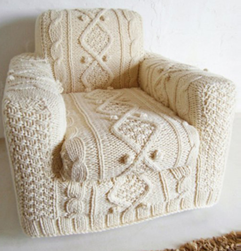 knitted armchair