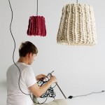knitted granny lamp