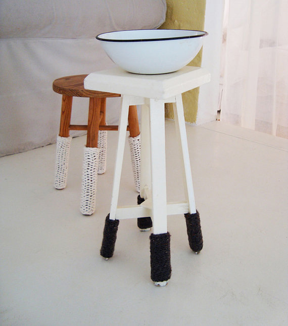 knitted stool warmers