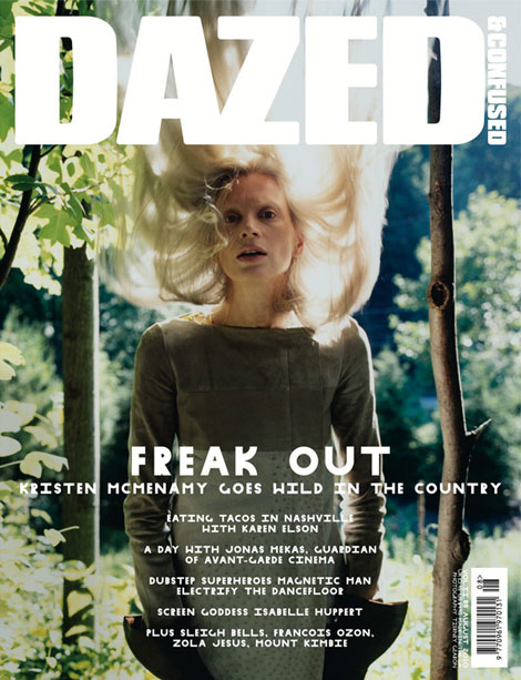 Kristen McMenamy Dazed and Confused August 2010 cover