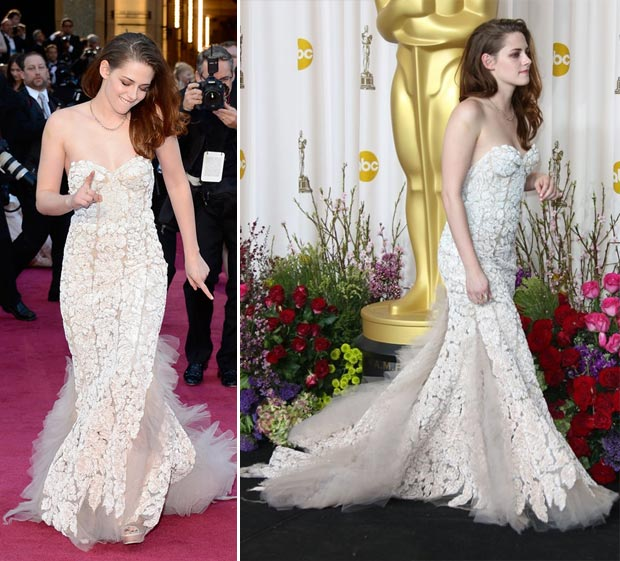 Kristen Stewart 2013 Oscars Red Carpet fun