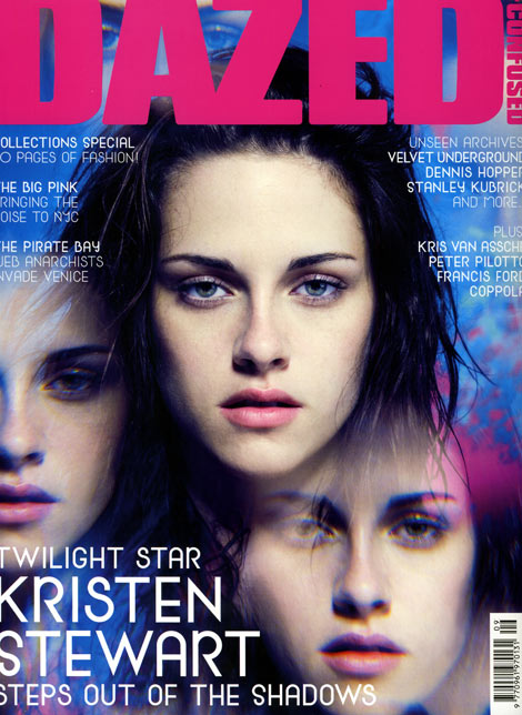 Kristen Stewart Dazed and Confused September 2009 cover