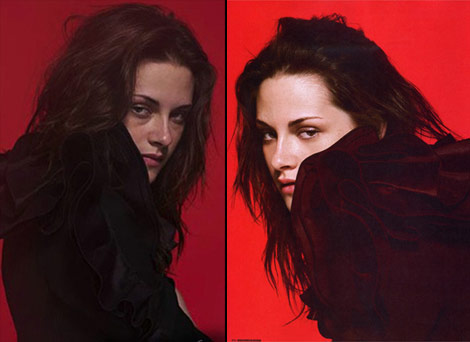 Kristen Stewart Dazed Confused 09 no Photoshop
