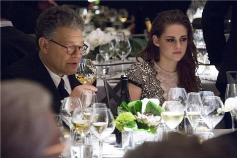 Kristen Stewart's Talbot Runhof Black Lace Dress For Governor's Awards