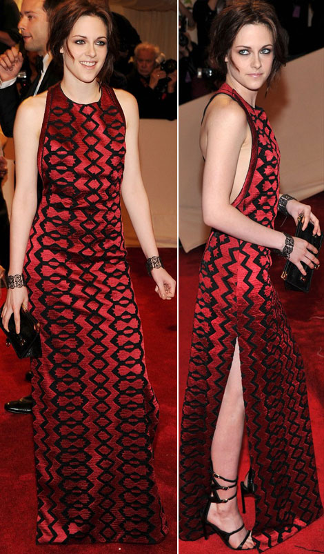 Kristen Stewart Red Proenza Shouler dress Met Ball 2011