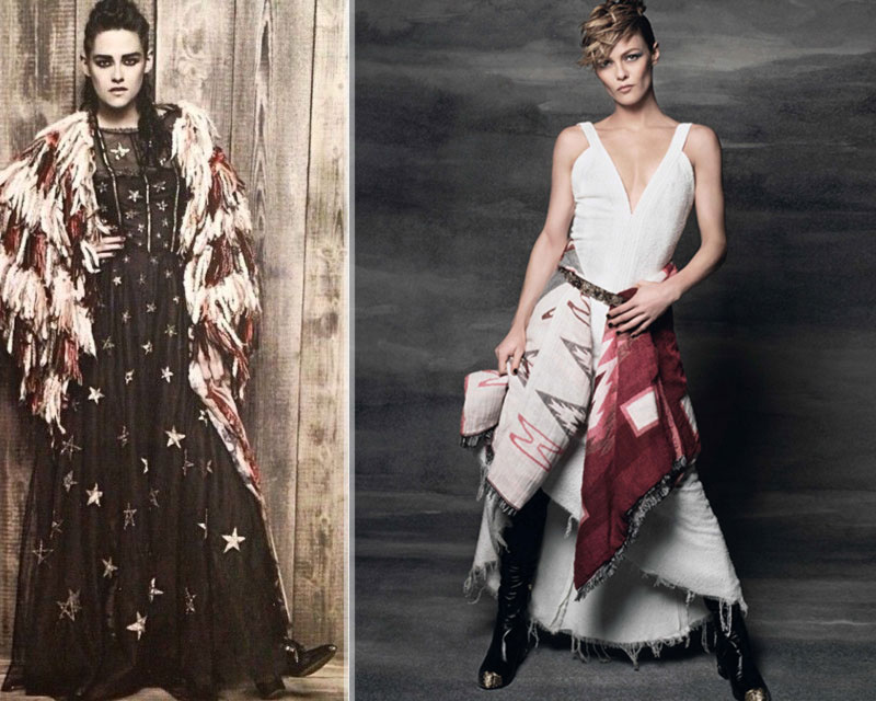 Kristen Stewart Vanessa Paradis Chanel campaign Elle France by Lagerfeld
