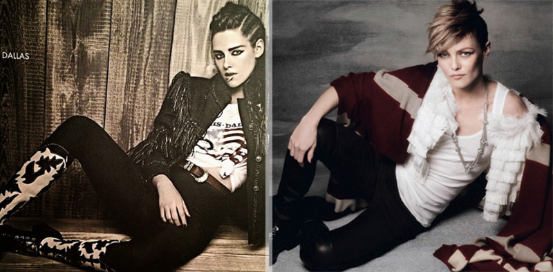 Kristen Stewart Vs. Vanessa Paradis In Chanel Pre Fall 2014 Photographed By Lagerfeld