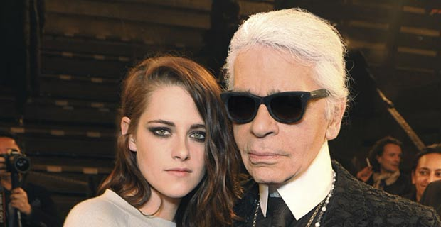 Kristen Stewart with Karl Lagerfeld Dallas