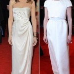 Kristen Wiig Tilda Swinton white dresses 2012 BAFTA Awards