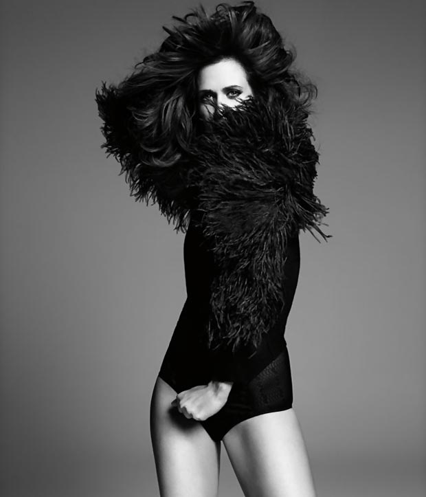 Kristen Wiig Harper s Bazaar black and white Paola Kudaki photo