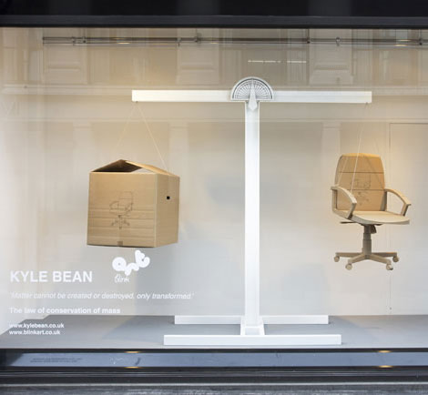 Kyle Bean Selfridges windows chair