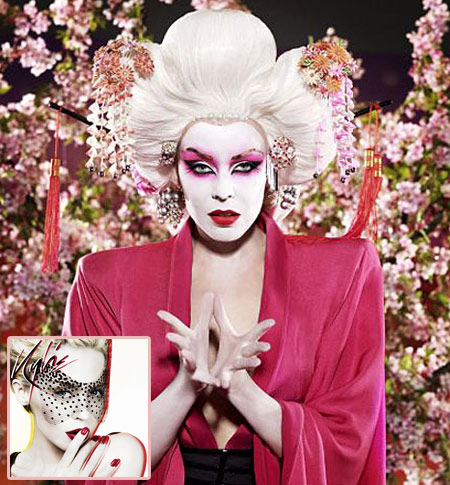 Kylie Minogue Geisha Look