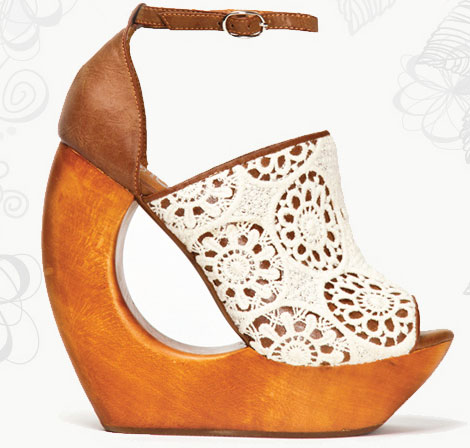 Weekend Summer Shoes: Lace Platforms