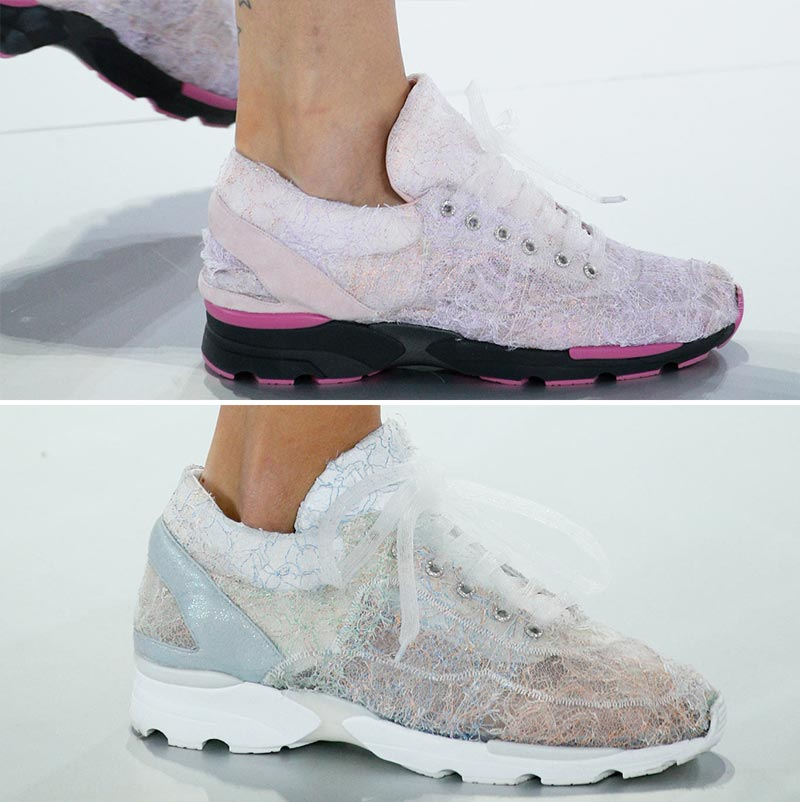 lace sneakers Chanel Spring 2014 Couture