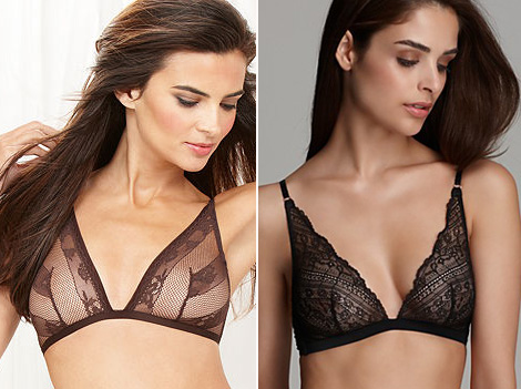 lace triangle wireless bra