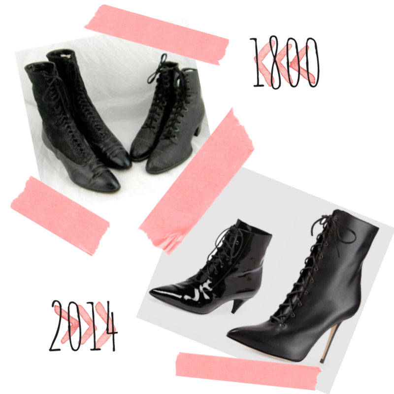 lace up booties from 1800 and 2014