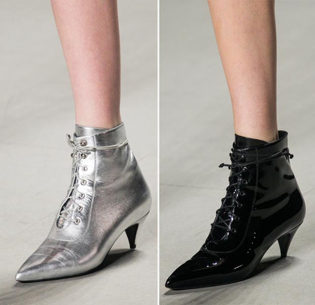 laced up booties Spring Summer 2014 Saint Laurent