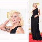 Lady Gaga 2015 Emmy Awards Red Carpet hairdo