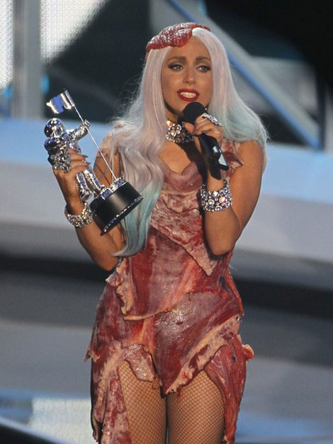 Lady Gaga Acceptance speech meat dress