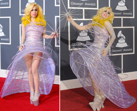 Lady Gaga Armani Prive dress 2010 Grammy Awards