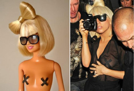 Lady Gaga Barbie bow hair