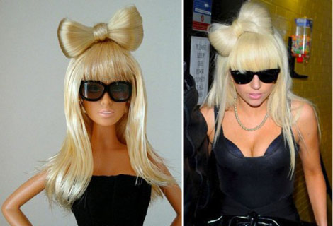 Lady Gaga Barbie Doll bow