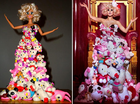 Lady Gaga Barbie Doll Hello Kitty