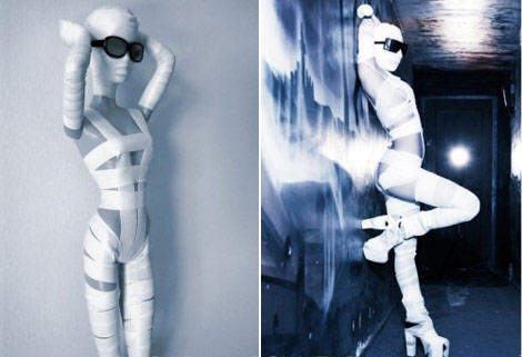 Lady Gaga Barbie Doll mummy wraps