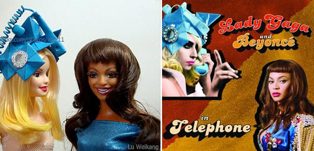 Lady Gaga Beyonce dolls telephone video