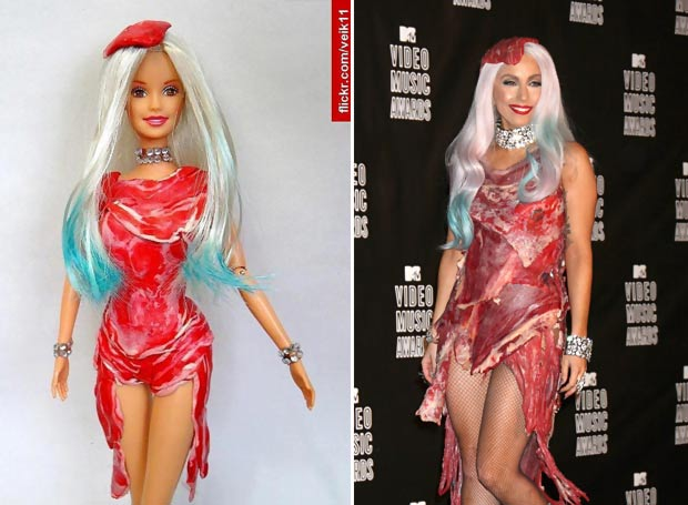Lady Gaga doll meat dress