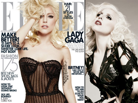 Lady Gaga Elle January 2010 cover