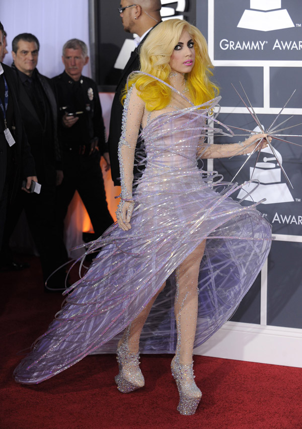 Lady Gaga's Armani Prive Dress For 2010 Grammys