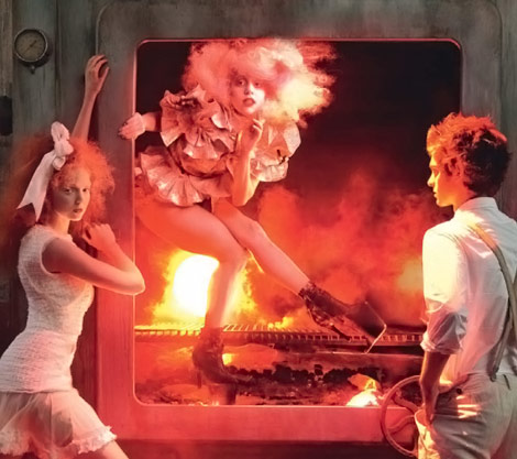 Lady Gaga Hansel Gretel Vogue US December 2009 Leibovitz