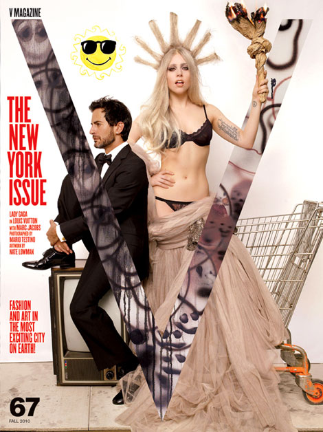 Lady Gaga Marc Jacobs V 67 fall 2010 cover