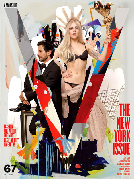 Lady Gaga Marc Jacobs V 67 fall 2010 NY Issue cover