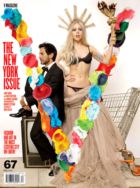 Lady Gaga Marc Jacobs V Magazine fall 2010 cover