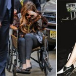 Lady Gaga parading her wheelchairs