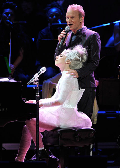 Lady Gaga Sting charity concert