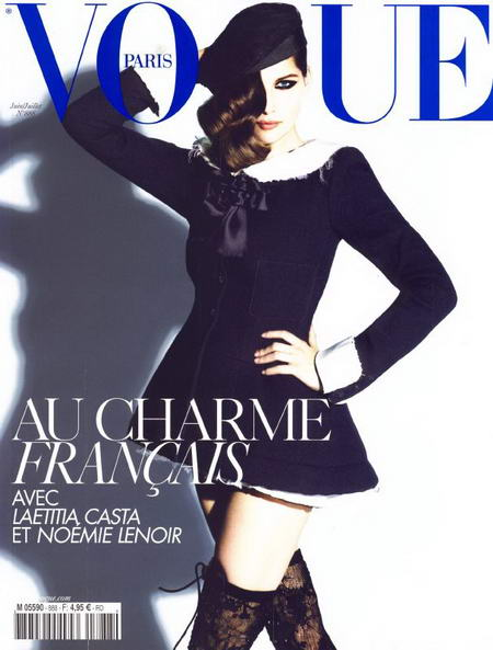 Laetitia Casta Cover of Vogue Paris June July 2008