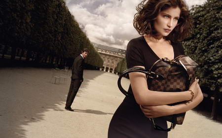 Laetitia Casta for Louis Vuitton Winter 2009 ad campaign