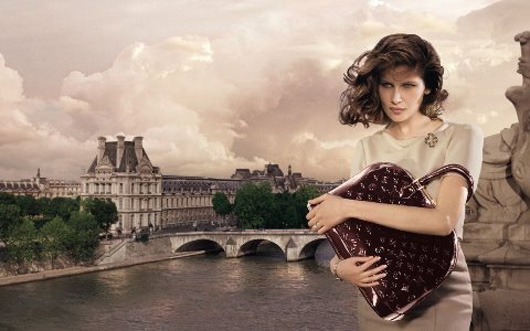 Laetitia Casta Louis Vuitton Winter 09 ad campaign